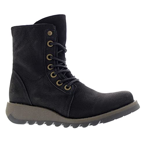 57cf000c Fly London Womens SUTI070FLY Black Leather Boots 36 EU: Amazon.co.uk: Shoes  & Bags