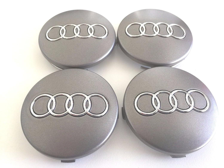 Set of 4/Metallic Grey 60/mm Wheel Hub Caps 4B0601170 for Audi
