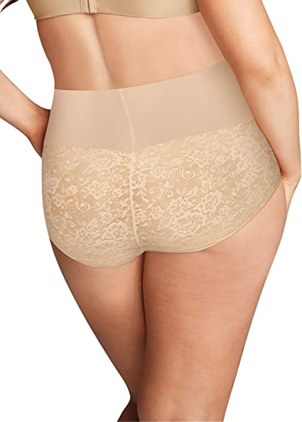 MAIDENFORM Nude High Waist Firm Control Brief Panty NEW Womens Plus Size 4XL