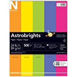 "Astrobrights Color Paper, 8.5"" x 11"", 24 lb / 89 gsm, ""Happy"" 5-Color Assortment, 500 Sheets"