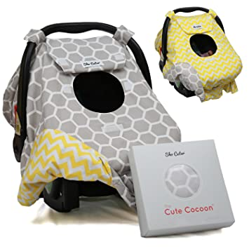 Sho Cute - [Reversible] Carseat Canopy | All Season Baby Car Seat Cover Boy  sc 1 st  Amazon.com & Amazon.com: Sho Cute - [Reversible] Carseat Canopy | All Season ...