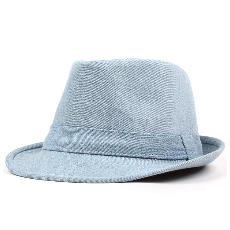 KKONION Fedora Hats New Denim Jazz Cap Men Women Panama Caps