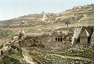 Valley Of Jehoshaphat Nthe Tomb Of Jehoshaphat In The Valley Of Jehoshaphat Jerusalem Photochrome C1895 Poster Print by (24 x 36)