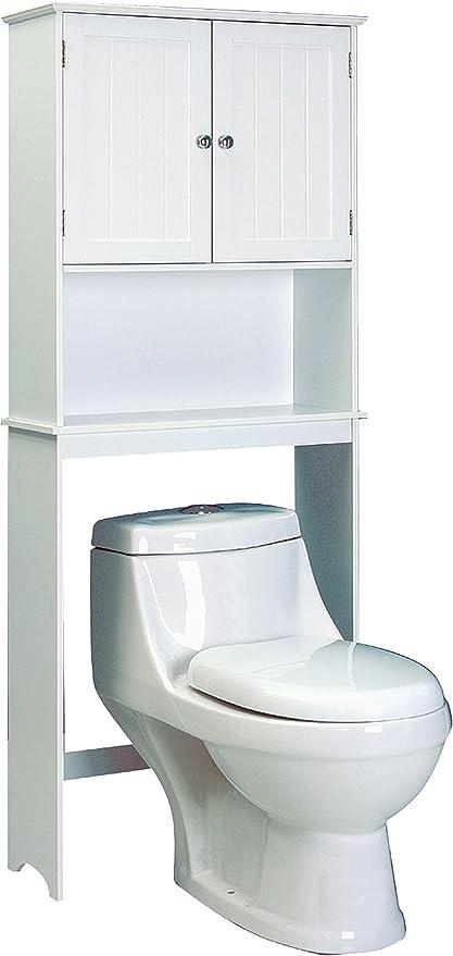 Jocca Mueble para Baño, Madera, Blanco, 193.5x65x22.5 cm