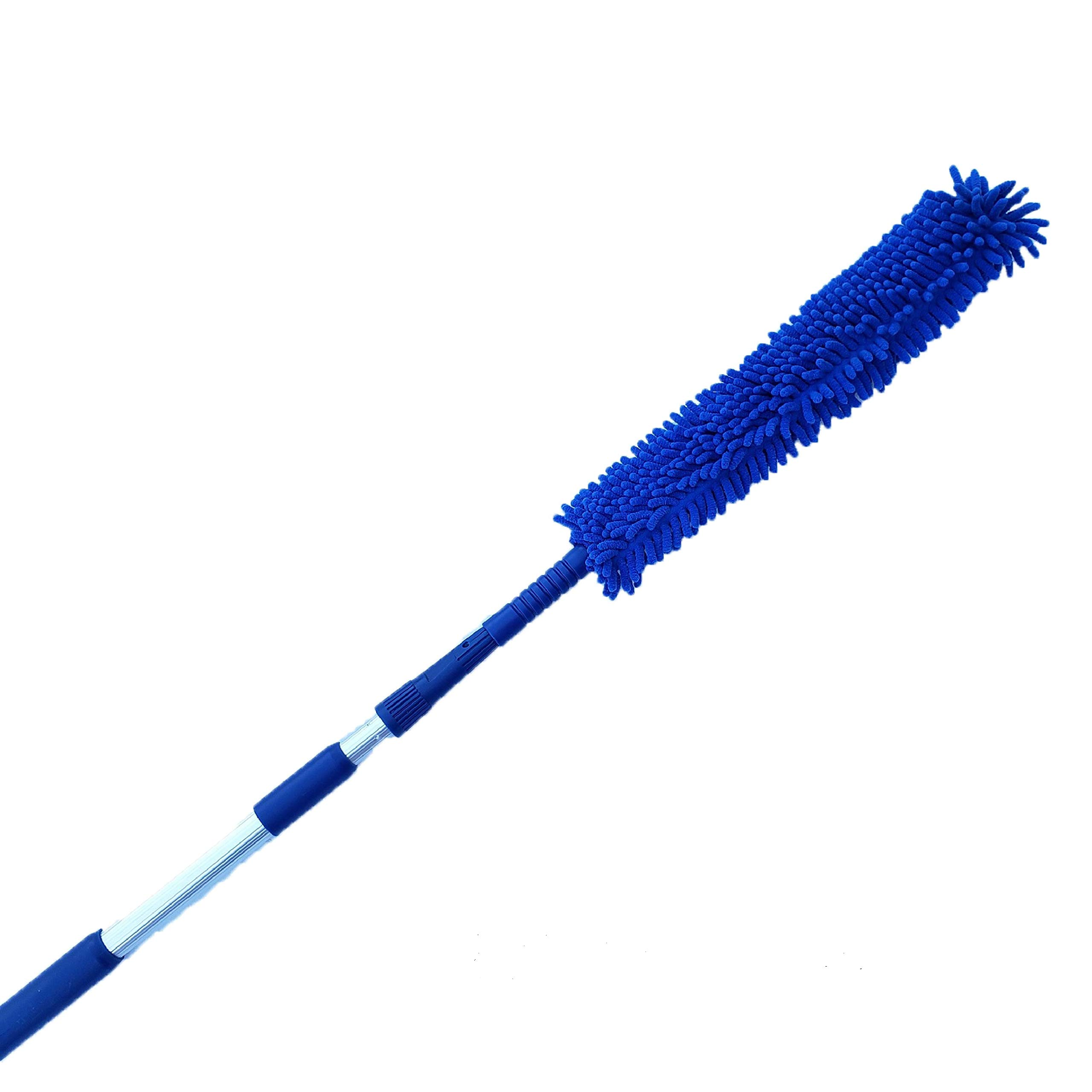 Duster For Cleaning Extendable, Ceiling Fan Duster, Cobweb Extension, Reach High Ceilings, Extends 18-20 Feet, Soft As Feather Duster