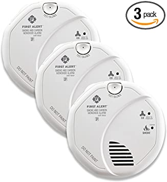 = BRK Smoke /& Carbon Monoxide Alarm AC Powered SC7010BV Photoelectric NEW
