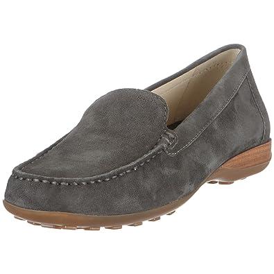 Geox Textil Donna Euro DONNA EURO 21 - Mocasines de ante para mujer, color gris, talla 40: Amazon.es: Zapatos y complementos