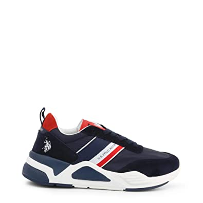 Sneaker Running US Polo Mod. Dave in Suede/Nylon Dark Blue/Red ...