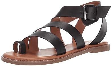 2b0bbc0e0953 Franco Sarto Women s Kehlani Flat Sandal Black 5.5 ...
