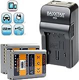 Baxxtar RAZER 600 II Ladegerät 5 in 1 + 2x Patona Qualitätsakku für -- Olympus BLN-1 PS-BLN1 -- passend zu Olympus OM-D E-M1 E-M5 und OM-D E-M5 Mark II