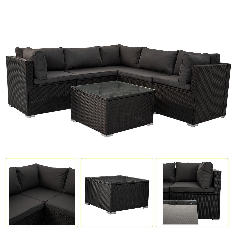 polyrattan gartenm bel lounge sitzgruppe nassau mit bez gen in dunkelgrau bestellen. Black Bedroom Furniture Sets. Home Design Ideas