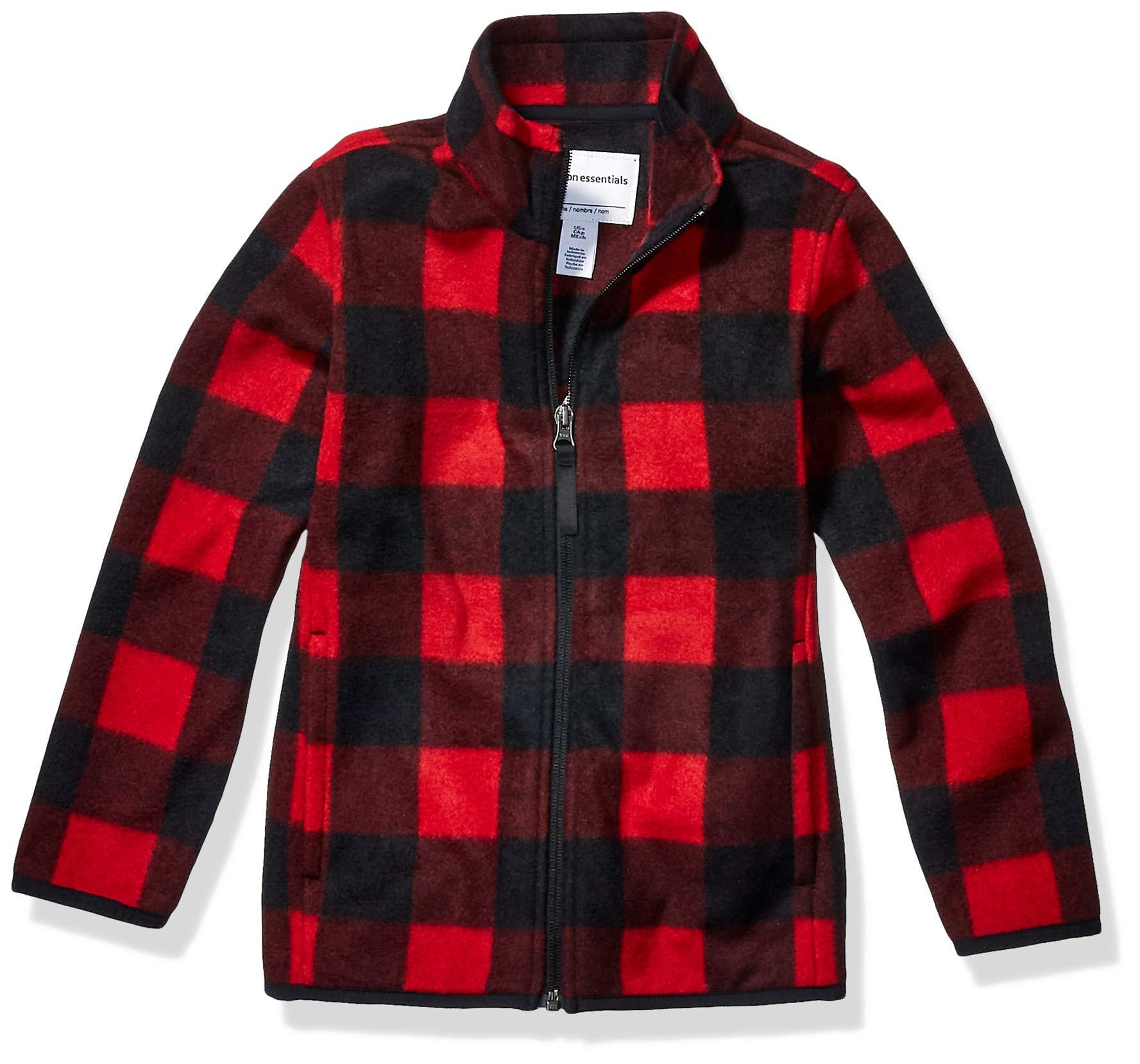 Essentials Boys Polar Fleece Full-Zip Hooded Jacket