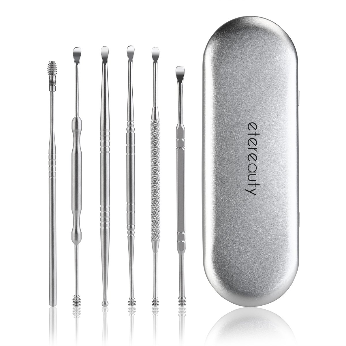 6pcs Ear Pick Ear Curette Earwax Removal with Storage Box