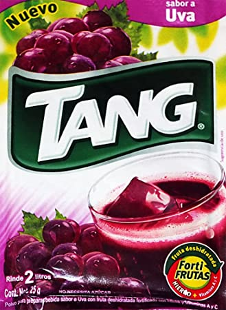 3 X Tang Uva Flavor No Sugar Needed Makes 2 Liters of Drink 15g From Mexico