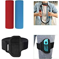 TiMOVO Accessories Kit for Ring Fit Adventure, 2 Ring-Con Non-Slip Grips and 1 Adjustable Elastic Leg Strap for Nintendo…