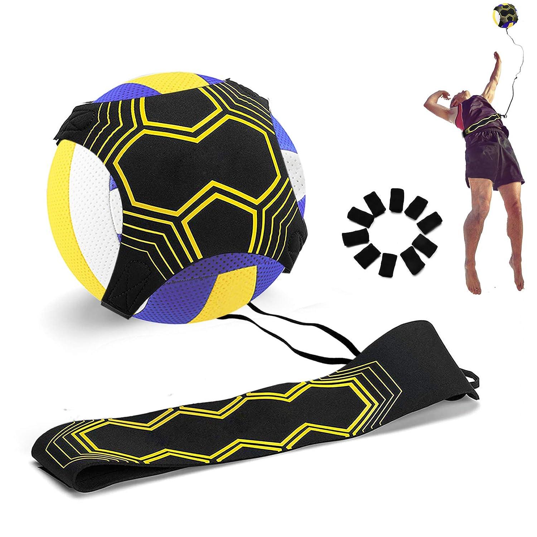 U-picks バレーボール トレーニング補助 非干渉 相互作用 ソロサーブスパイク ヒッティング機器トレーナー 初心者&エキストラフィンガースリーブ