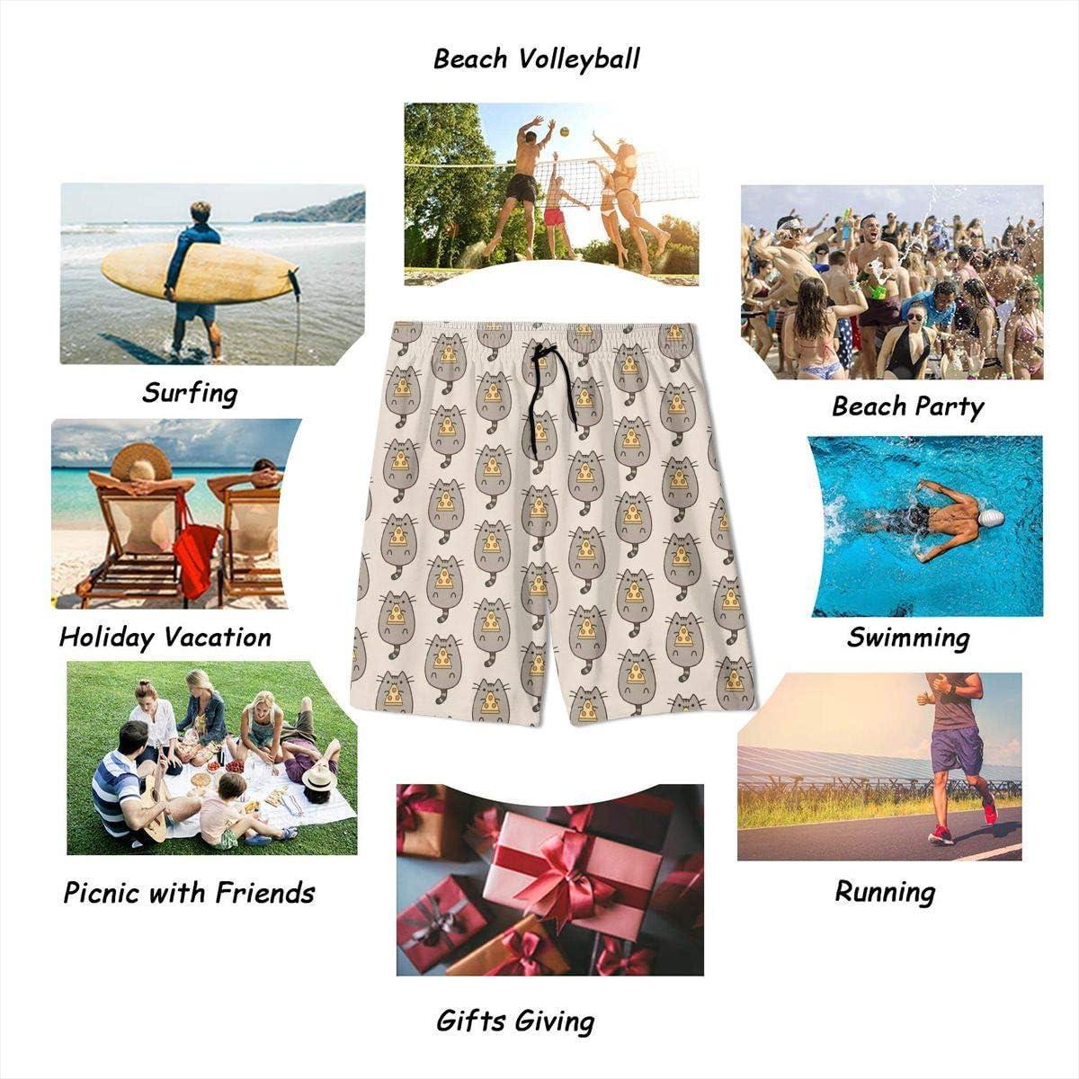 Sugar Skull Flower Teenager Boys Beachwear Beach Shorts Pants Board Shorts