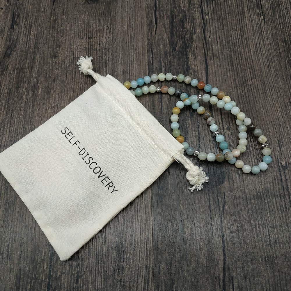 6mm*108 Prayer Beads Pink Rose Chalcedony Crystal Power Mala