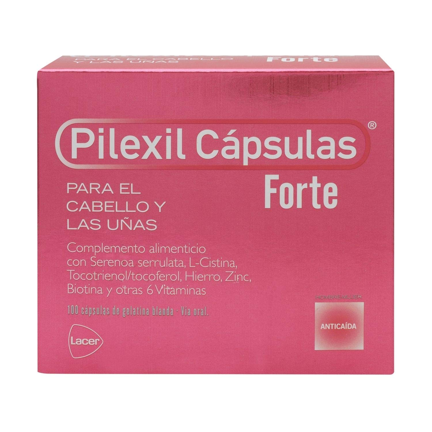 Amazon.com : Pilexil Forte Hair Loss 100 Capsules - Hair Regrowth Treatment - Fight Alopecia & Improve Your Nail Condition : Beauty