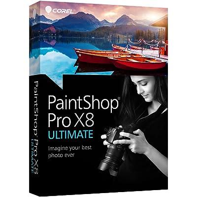 Corel PaintShop Pro X8 Ultimate - Software de gráficos (Caja, Completo, PC, Intel/AMD, 1024 x 768 Pixeles, Windows 10 Education, Windows 10 Education x64, Windows 10 Enterprise, Windows 10 Enterprise x64, Wi)