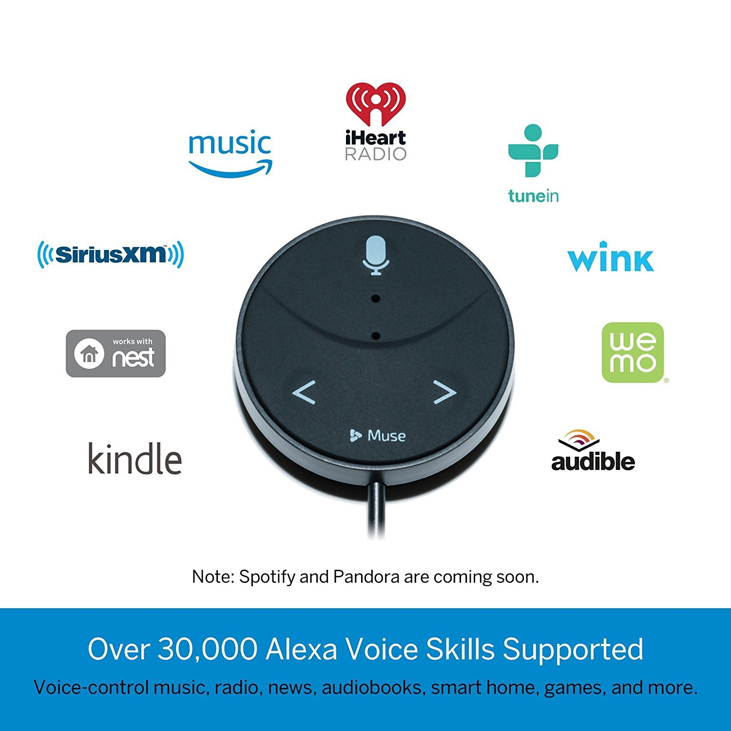 Muse Auto Alexa Enabled Voice Assistant For Cars With Wiring Diagram Hands Free Music Audiobooks Navigation And 2 Port Usb Car Charger Cell Phones