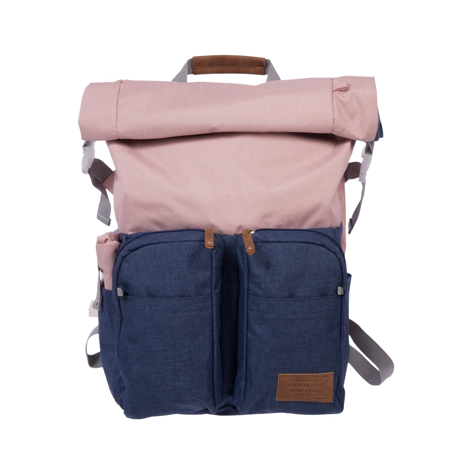 Renwick Roll Top Backpack with Laptop Sleeve and Chord Organizer (Pink) A2206_RW_PNK