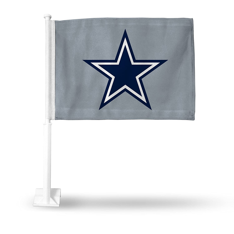 Rico NFL Cowboys Car Flag with Star, Grey, 8 x 1, Logo Color Rico Industries Inc. FG1807