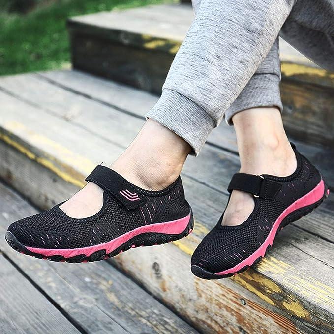 ... Zapatos Ocasionales De Los Zapatos Al Aire Libre Que Caminan Los Cordones para Arriba para Arriba Las Señoras Las Mujeres: Amazon.es: Ropa y accesorios