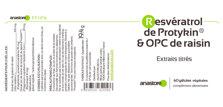 Anastore OPC de Uva y Resveratrol 60 mg - 60 Cápsulas: Amazon.es: Salud y cuidado personal