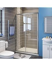 ELEGANT 1400mm Sliding Shower Door Reversible Bathroom Shower Enclosure Cubicles