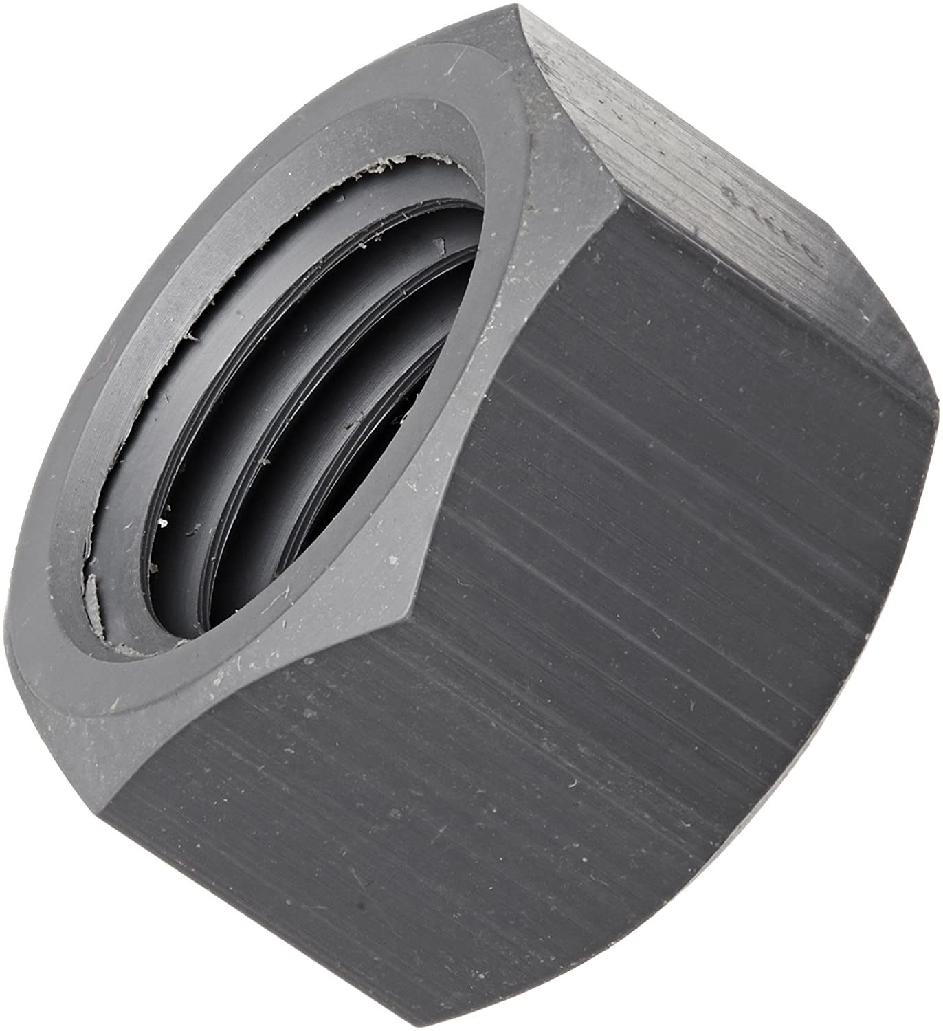 Gray 7//32 Thick 1//4-20 Thread Size 7//16 Width Across Flats 7//32 Thick Pack of 25 7//16 Width Across Flats Small Parts 1//4-20 Thread Size Pack of 25 PVC Hex Nut