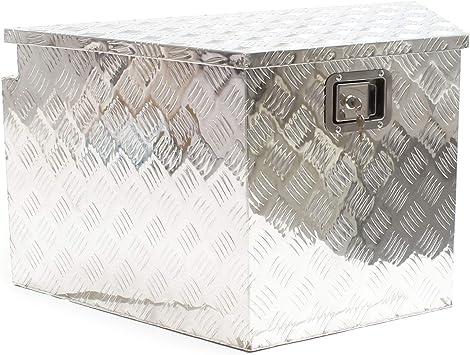 Caja aluminio con cerradura Cofre herramientas Caja enganche vehículo Accesorios remolques Coches: Amazon.es: Bricolaje y herramientas