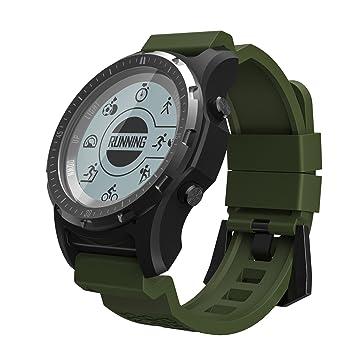 SDKNVJ Pulsera Inteligente Función Multifuncional Smart Watch Reloj Inteligente GPS Air Pressure Riding Golf Senderismo Multifunción