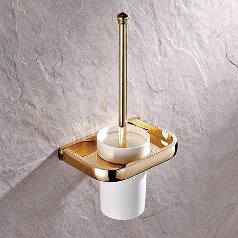Weare Home Hochwertig Retrio Modern Alle Gold Kupfer Messing Badezimmer Accessoires Einzeln Toilettenburstebhalter Mit Keramik Toilettenburstenbecher