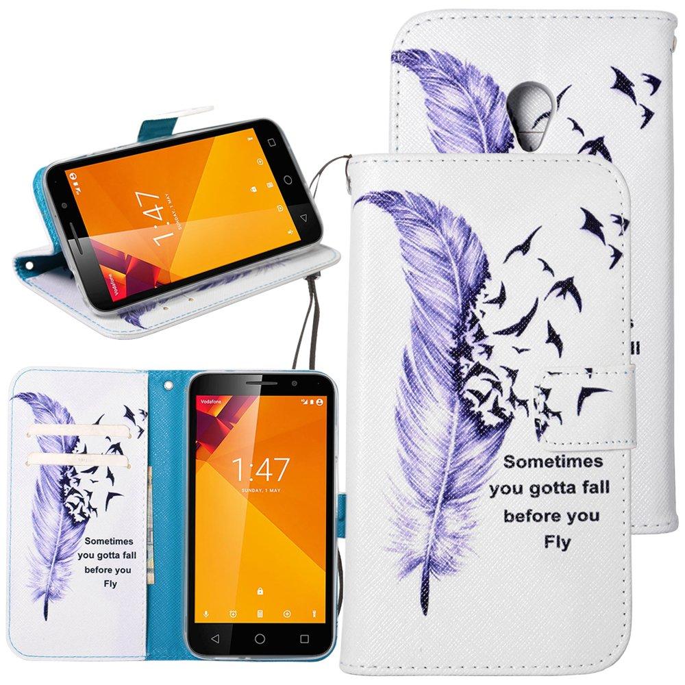 Dooki - Funda de piel sintética tipo cartera con función atril y tarjetero para Vodafone Smart Turbo 7 (7 pulgadas): Amazon.es: Coche y moto