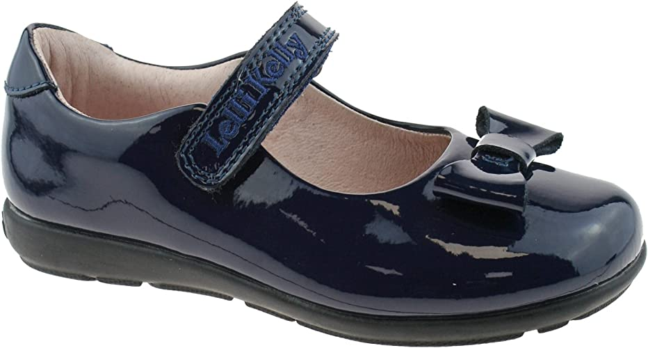 Perrie Navy Patent Leather School Shoes