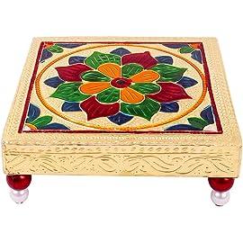 Abhyuday Store Rajasthani Art Meenakari Golden Pooja Bajot