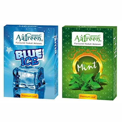 Aafreen Hookah Molasses Refreshing Hookah Flavours (Brain Freezer & Fresh Mint) - Pack Of 2