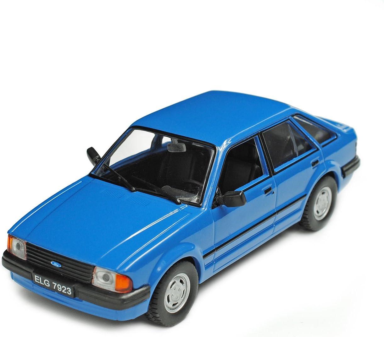 Alles Meine De Gmbh Ford Escort Mk Iii 5 Türer Blau 1980 1985 1 43 Modellcarsonline Modell Auto Spielzeug