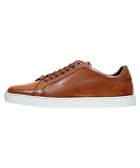 Hugo Boss - Zapatillas de Piel para Hombre, Color marrón, Talla 40: Amazon.es: Zapatos y complementos