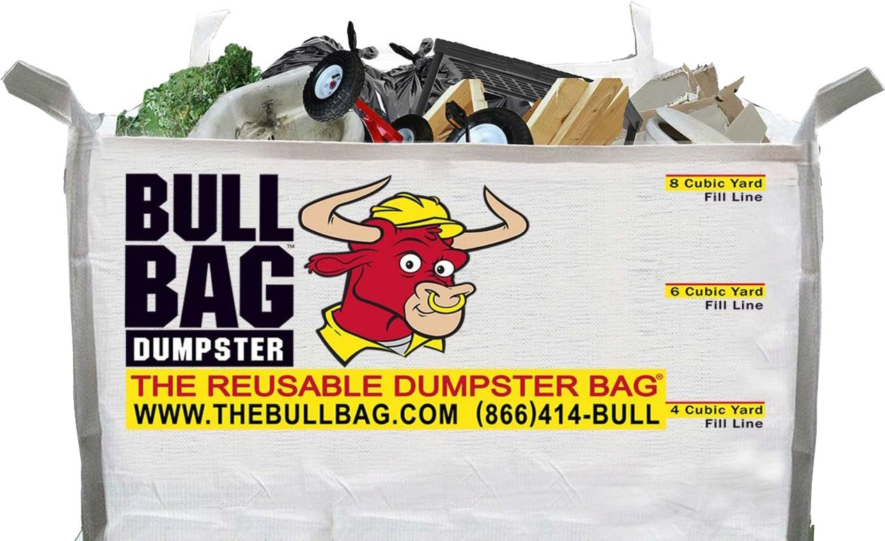 The BullBag Portable Foldable Reusable Construction Dumpster and Trash Bag by Bull Bag