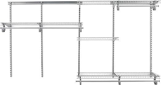 "ShelfTrack 30/"" Heavy-Duty Easy-To-Install White Steel Closet Shelf Standard"