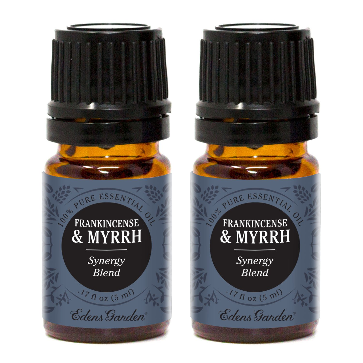 Edens Garden Frankincense & Myrrh Essential Oil Synergy Blend, 100% Pure Therapeutic Grade (Highest Quality Aromatherapy Oils- Skin Care & Stress), 10 ml Value Pack by Edens Garden