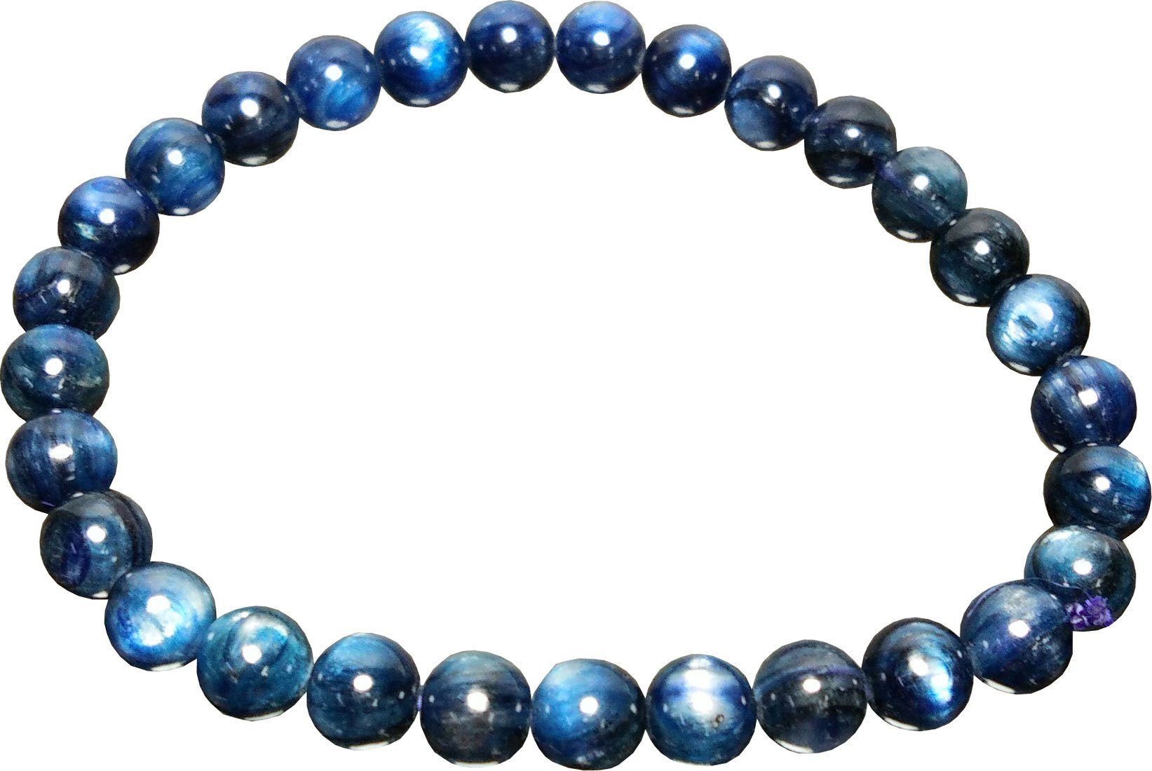Aldomin Natural Kyanite Healing Crystal Bracelet (Bead Size :- 7.5 to 8 MM)