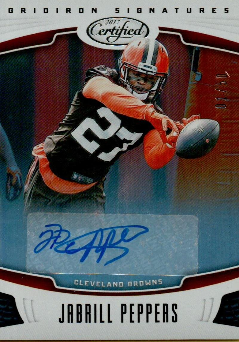 Football NFL 2017 Certified Gridiron Signatures #8 Jabrill Peppers Auto /50 Browns Panini