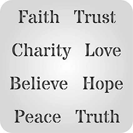 amazon com words of faith stencil size 5 w x 5 h reusable wall