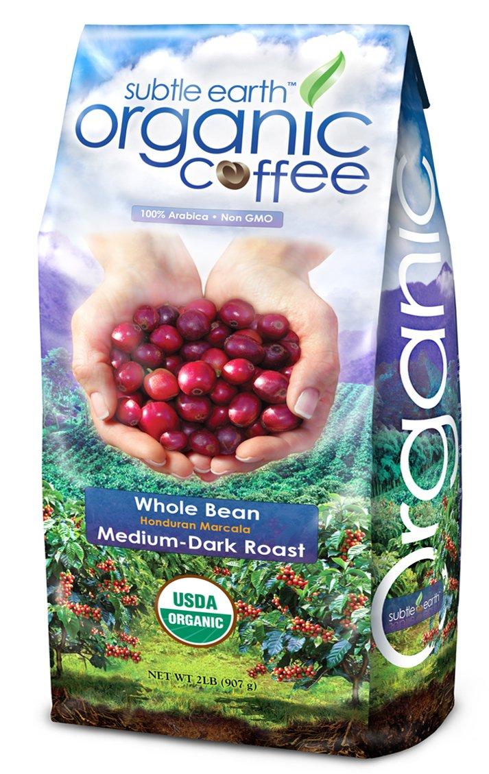 2LB Cafe Don Pablo Subtle Earth Organic Gourmet Coffee - Medium-Dark Roast - Whole Bean Coffee USDA Certified Organic, 2 Pound by Cafe Don Pablo