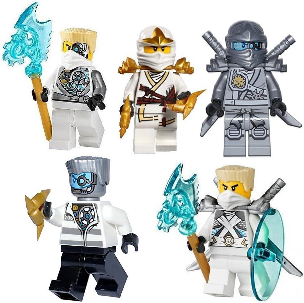 LEGO Ninjago Zane Mini Figures Set Of 5 Assorted (Zane Nindroid Weapons  Reboo/Zane Zane Titanium/Prison/Zane Zane ZX/Titanium): Amazon.de: Spielzeug