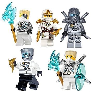 5x Rebooted Set Lego Ninjago ZaneNindroid Minifigur MUzpVS