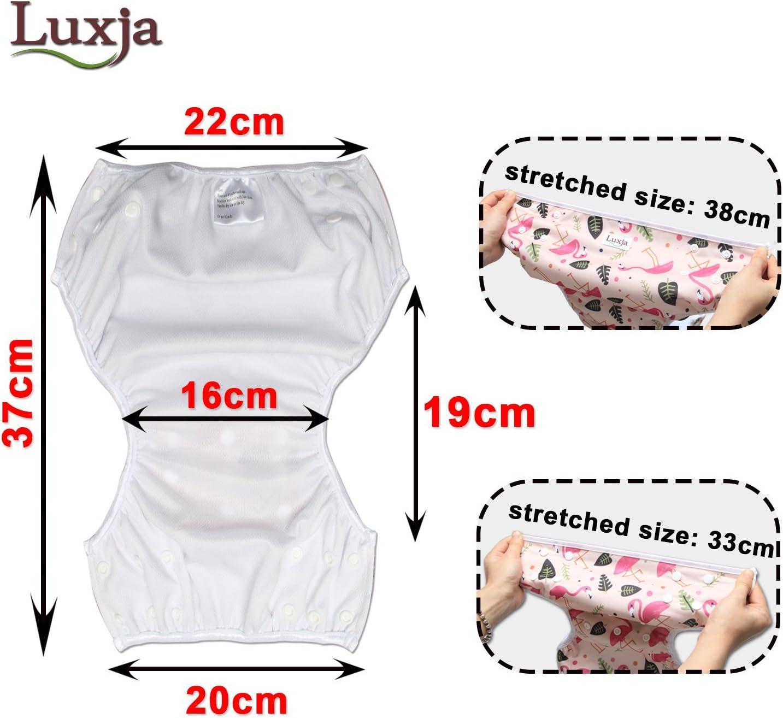 Luxja Pa/ñal de Nataci/ón para bebes Ba/ñador Reutilizable de Nadar de Beb/é Pa/ñal lavable para Beb/é oso polar 0-3 a/ños Flamenco rosado